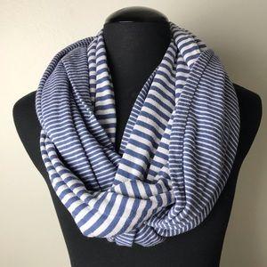 Victoria's Secret infinity Scarf Stripe Bluewhite